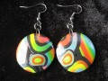 Black/multicolored pop earrings