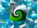 Green/black spiral pop ring