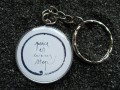 Zen Key Ring, Peace is every step, resin set