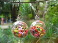 Bubble earrings, mobile multicolored fruits