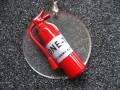 """Never without my extinguisher"" great resin pendant"