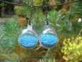Bubble earrings, mobile turquoise minipieces