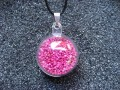 Bubble pendant, mobile fuchsia miniperles