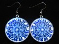 Zen earrings, Zodiac signs, set in resin