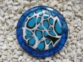 Blue and white great blue resin and fimo ring