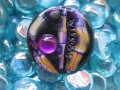 Purple/Gold/Black great fimo ring