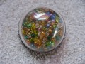 Large dome ring, multicolored beads