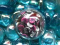 Large Dome Ring, Multicolored Mobile Skulls