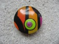 Large pop ring, black / multicolored, in Fimo