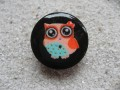 Colored Owl black small resin ring